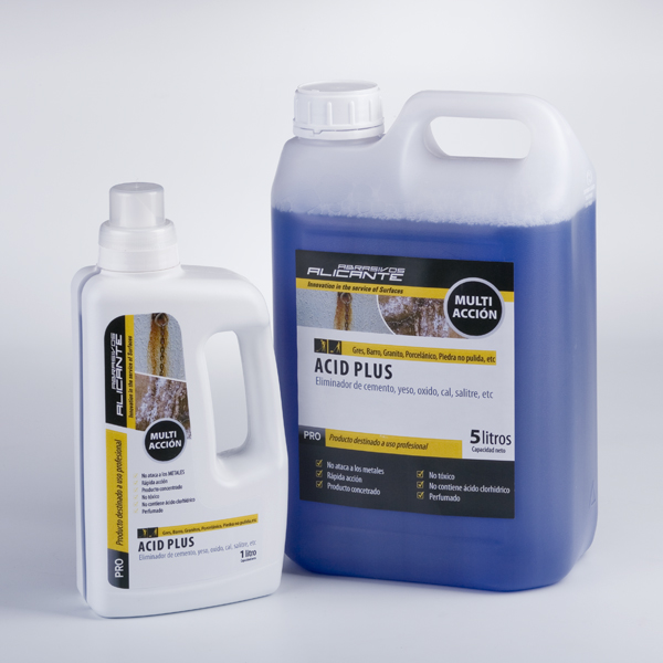 Acid-Plus. Eliminador de Cemento, yeso, óxido, cal, salitre, etc