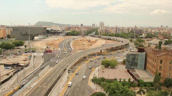 Demolición del anillo vial de la Plaza de las Glòries