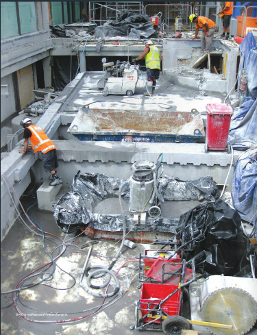 Demolición de la piscina del emblemático Skycity en Auckland, Australia