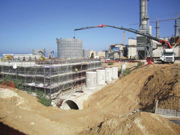 Uso de Concreto de rápido secado en Israel