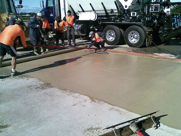 Concreto de rápido secado para tráfico pesado