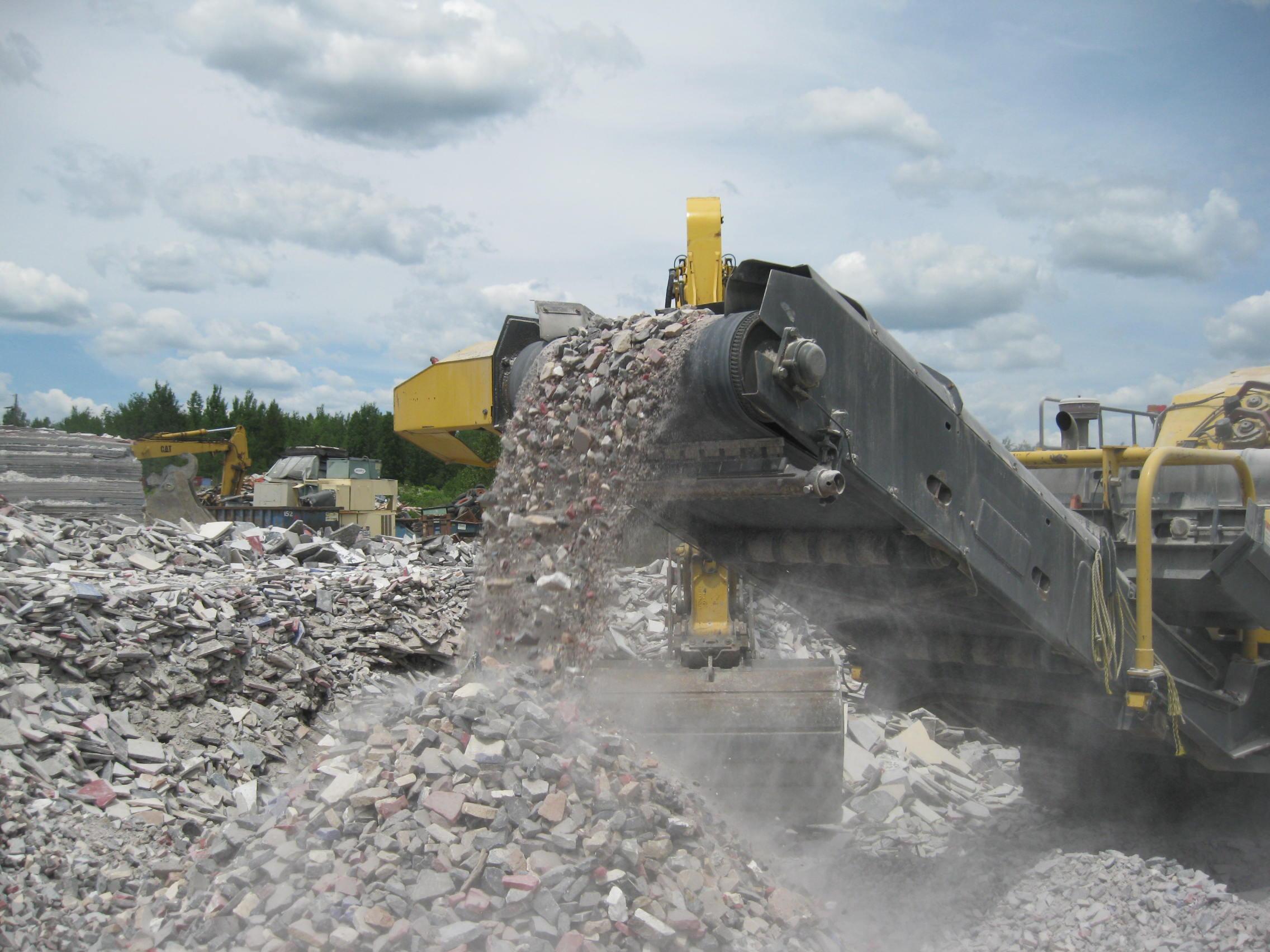 Una alternativa para el concreto resultante en una demolición
