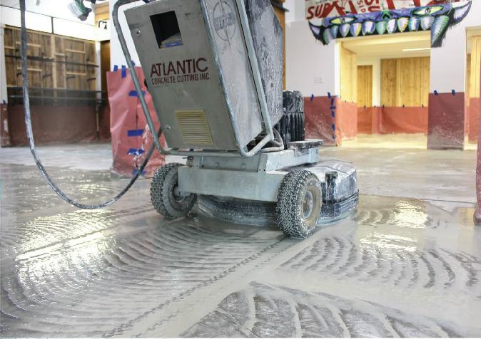 Reparación de una superficie de Concreto Pulido