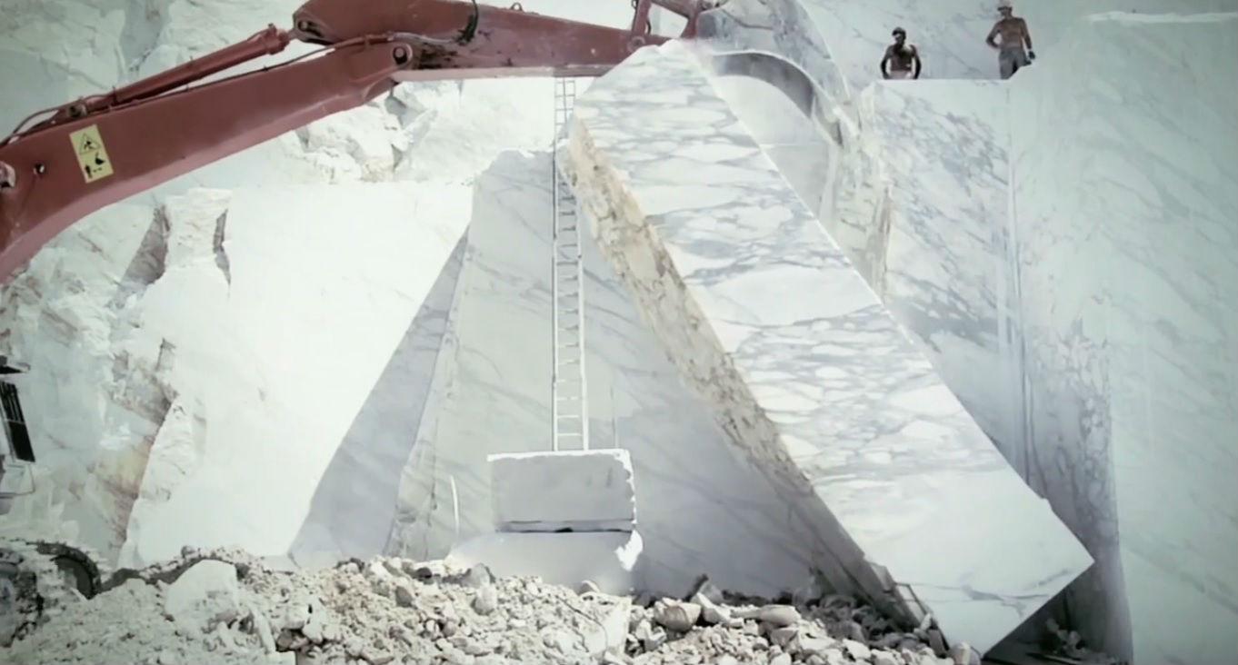 Proceso de extracción del mármol
